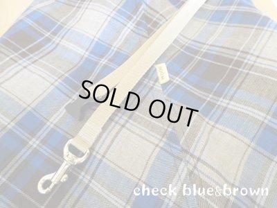 画像1: 【スリング】check blue&brown